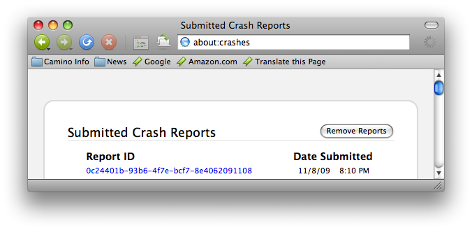 about:crashes