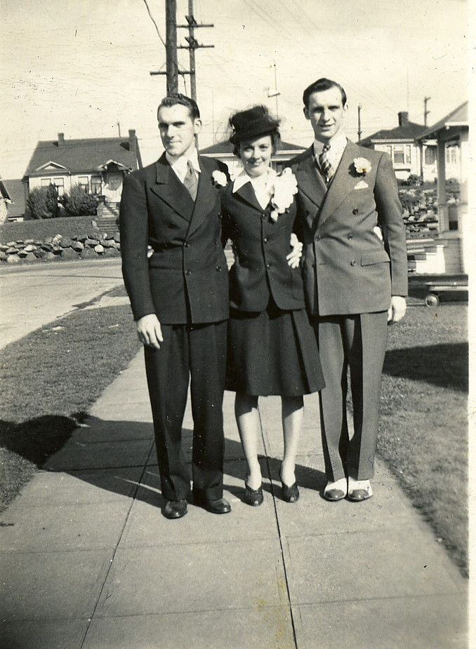 Ed, Dolores, and Eugene Ardisson, Seattle, Washington, April 1942