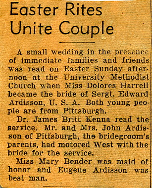 Easter Rites Unite Couple