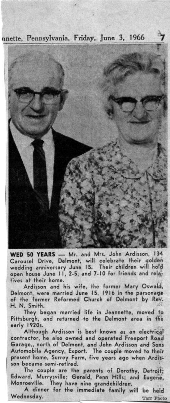50th Wedding Anniversary Announcement