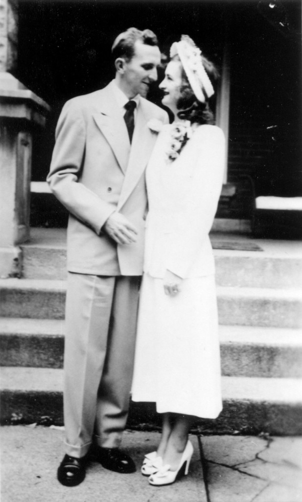 Norbert R. Porczak and Jean Wright wedding portrait